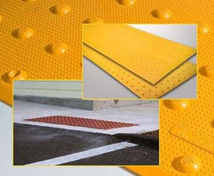 Detectable Warning Composite Surface Applied Truncated Dome by ADA Solutions - Detectable Warning Panels