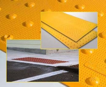 Detectable Warning Composite Surface Applied Truncated Dome Offered by DWP - Detectable Warning Panels