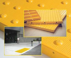 "Detectable Warning Composite <span style=""color:#000;"">Cast in Place</span> Truncated Dome Pavers (NON-Replaceable) by ADA Solutions - Detectable Warning Panels"