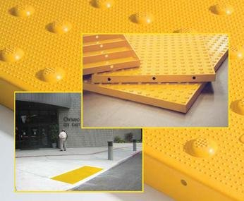 Detectable Warning Composite Cast in Place Truncated Dome Pavers (NON-Replaceable) Offered by DWP - Detectable Warning Panels