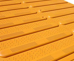 Detectable Warning Cast in Place Truncated Dome Replaceable DIRECTIONAL BARS by ADA Solutions - Detectable Warning Panels