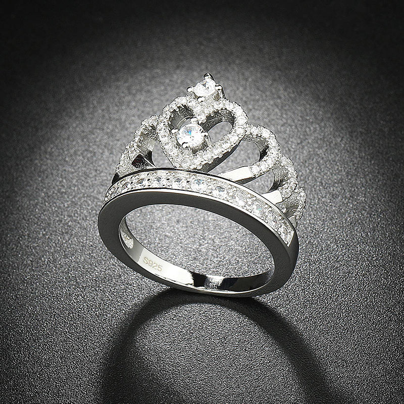 Heart Crown Diamond Ring – Venestia