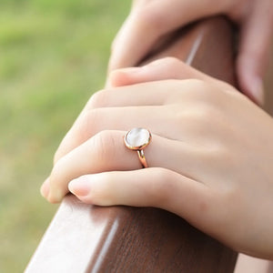 October Opal Birthstone Ring