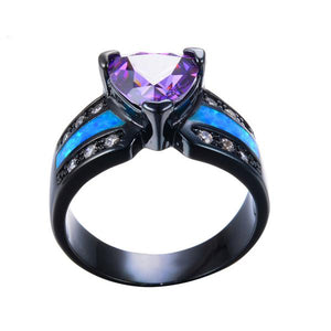 June Black Gold Ring