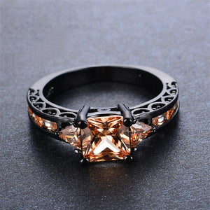 November Black Gold Filled Ring