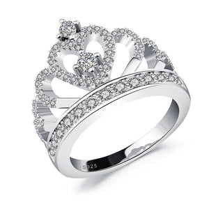 Heart Crown Diamond Ring