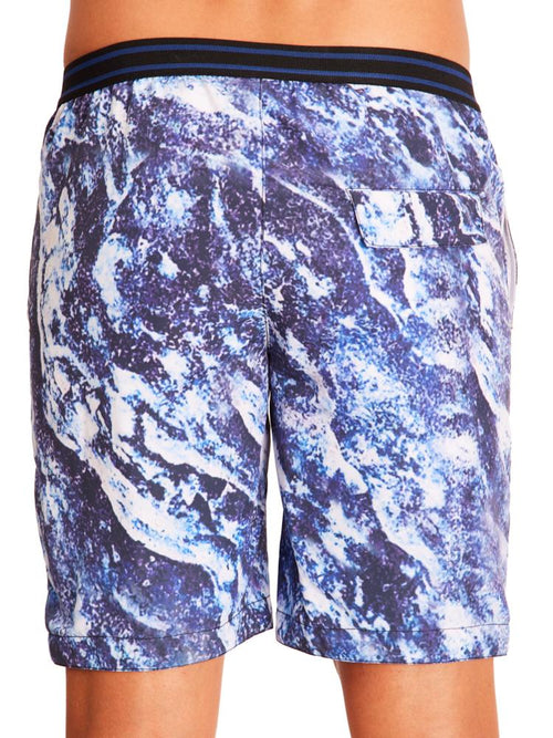 Limousine/Dusk Abstract Elastic Short