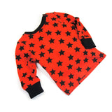 Blade and Rose Red Star Long Sleeve T-Shirt