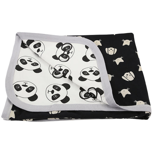 BAMBINISTA - TURTLEDOVE LONDON - Blankets - Panda / Percy and Maurice Double Sided Blanket