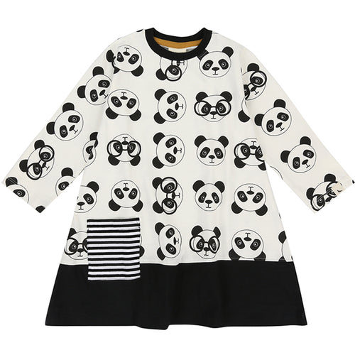 BAMBINISTA - TURTLEDOVE LONDON - Dresses - Panda Print Panel Hem Dress