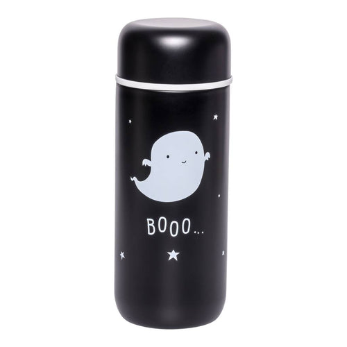 BAMBINISTA - A LITTLE LOVELY COMPANY - Tablewear - Insulated Stainless Steel Drink Bottle Ghost