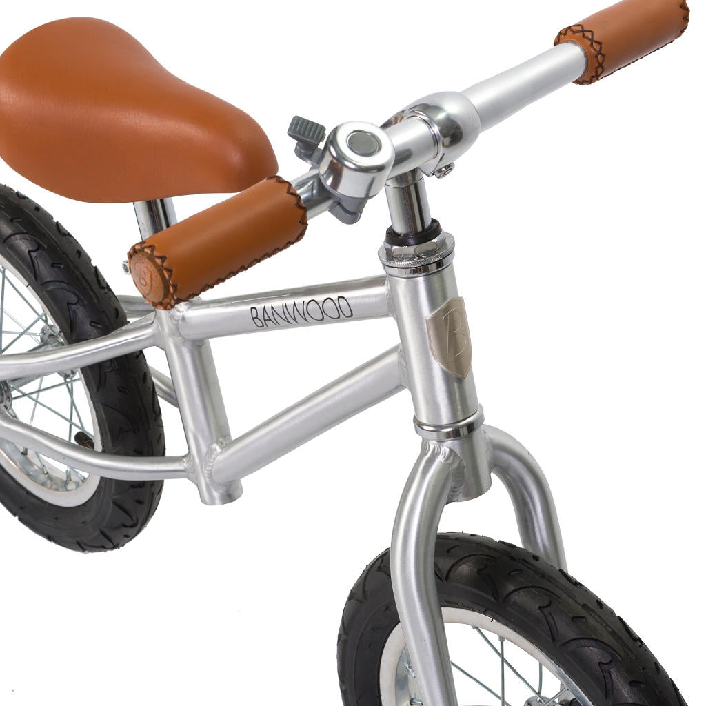 "Bambinista - BANWOOD -Toys - FIRST GO! Balance Bike 12"" Chrome"