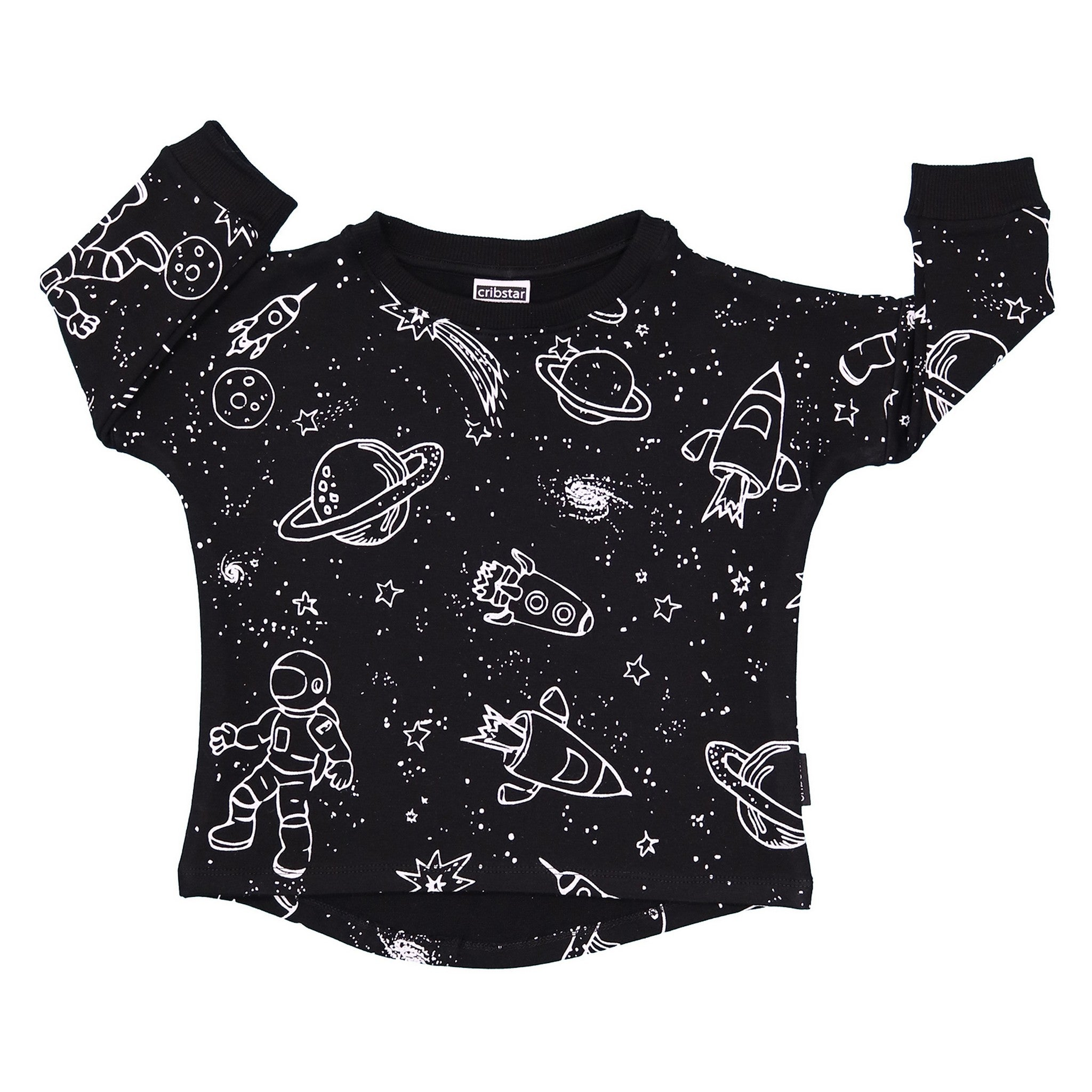 BAMBINISTA - CRIBSTAR - Tops - Space Sweatshirt