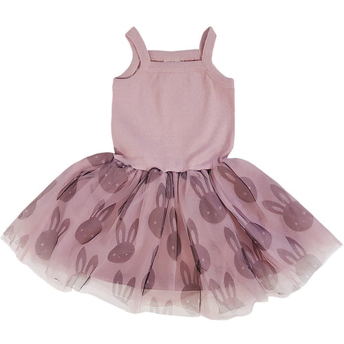 Bambinista - HUXBABY -Dresses - Bunny Summer Ballet Onesie Dress