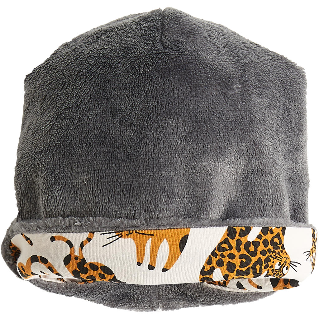 BAMBINISTA - THE BONNIE MOB - Accessories - Katz Reversible Beanie with Faux Fur Sand Cat