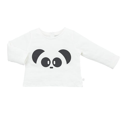 MORI - Panda Long Sleeve T-Shirt - Tops - Bambinista