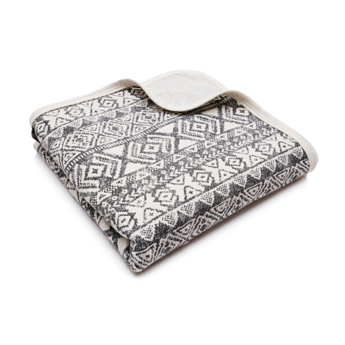 BAMBINISTA - PULP - Blankets - Bamboo Hooded Swaddle Blanket / Towel Aztec