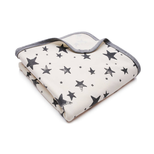 Bambinista - PULP -Blankets - Bamboo Hooded Swaddle Blanket / Towel Stars