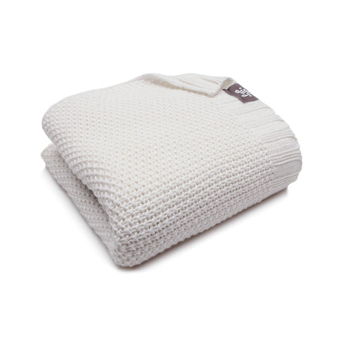 BAMBINISTA - PULP - Blankets - Bamboo Knitted Baby Blanket Ecru