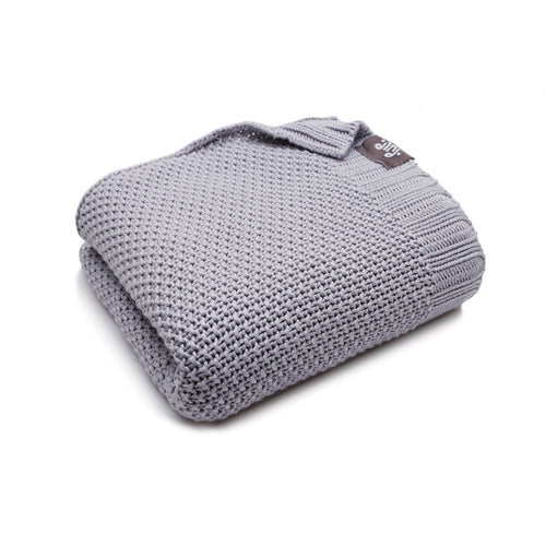 BAMBINISTA - PULP - Blankets - Bamboo Knitted Baby Blanket Grey