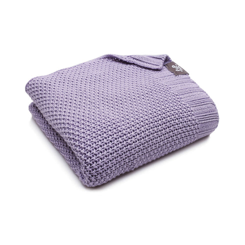 BAMBINISTA - PULP - Blankets - Bamboo Knitted Baby Blanket Purple