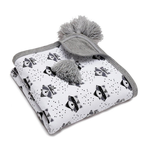 PULP - Cotton Reversible Blanket Fox - Blankets - Bambinista