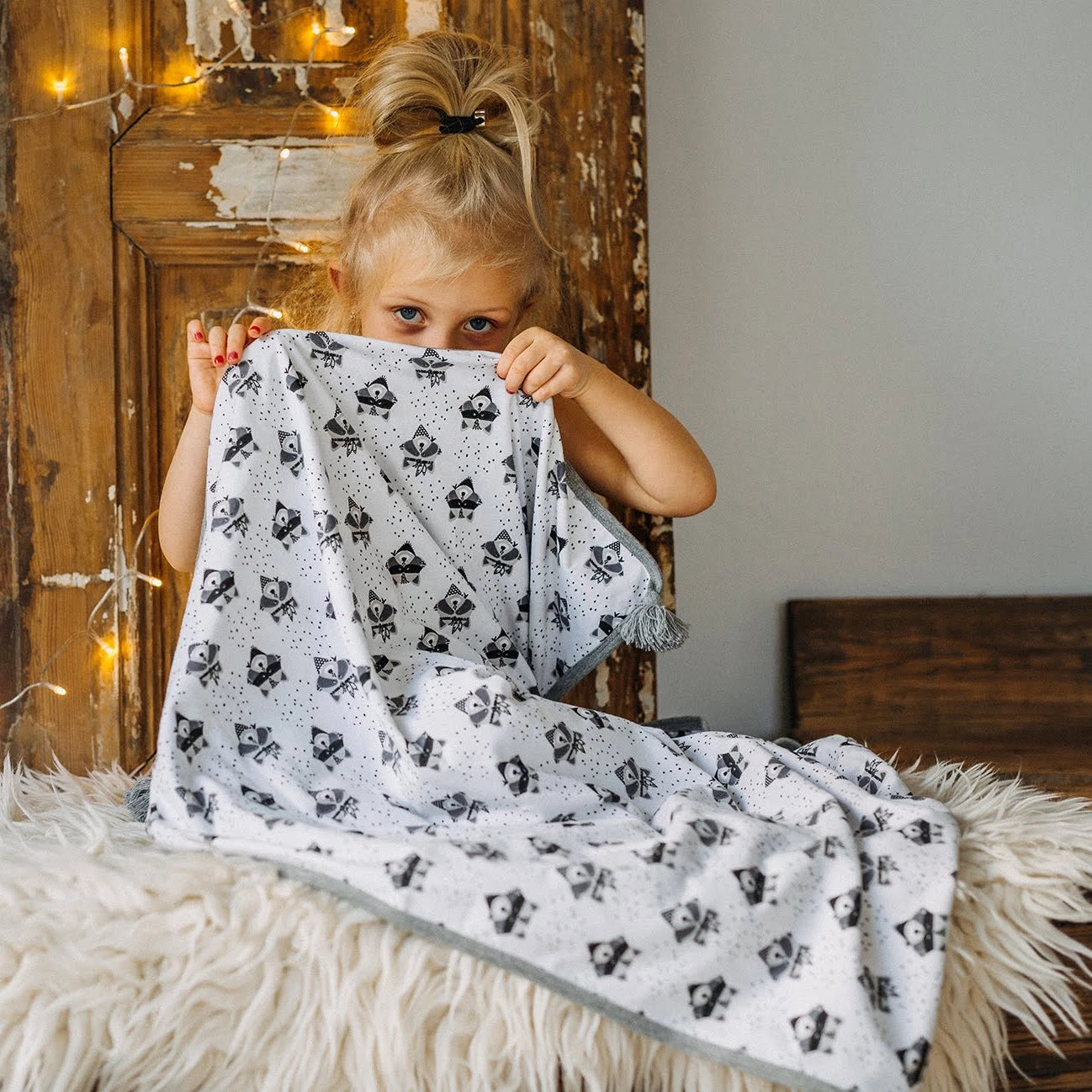BAMBINISTA - PULP - Blankets - Cotton Reversible Blanket Fox