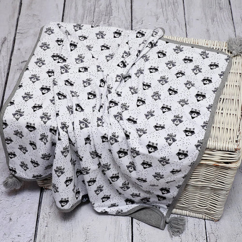 Bambinista - PULP -Blankets - Cotton Reversible Blanket Fox