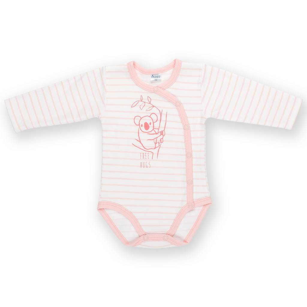 BAMBINISTA - PINOKIO - Onesies - Happy Kids Long Sleeve Wrap Bodysuit Koala