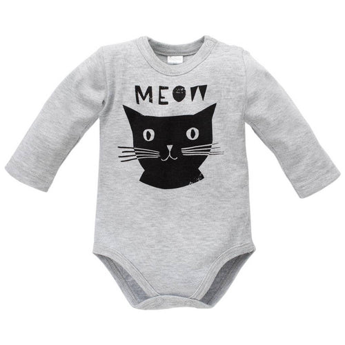 PINOKIO - Happy Days Long Sleeve Bodysuit Meow - Onesies - Bambinista