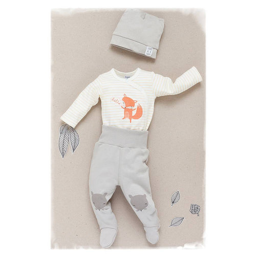 BAMBINISTA - PINOKIO - Onesies - Smart Fox Long Sleeve Wrap Bodysuit