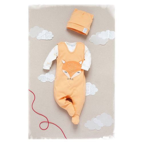 BAMBINISTA - PINOKIO - Pajamas - Smart Fox Sleep Suit Orange
