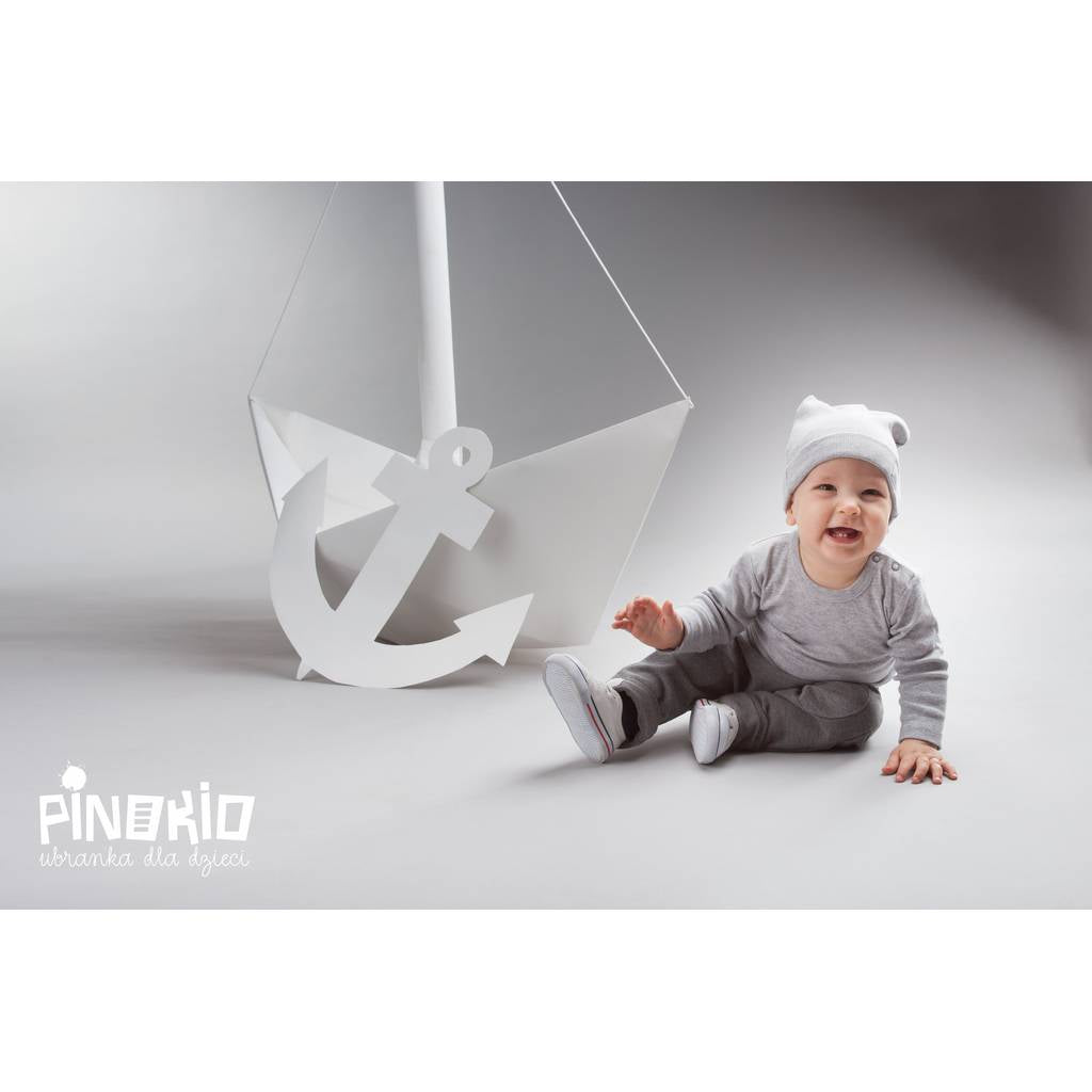PINOKIO - Happy Kids Beanie Oversized Grey - Hats - Bambinista