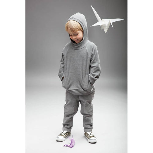 BAMBINISTA - PINOKIO - Tops - Happy Kids Hoodie Sweatshirt Grey