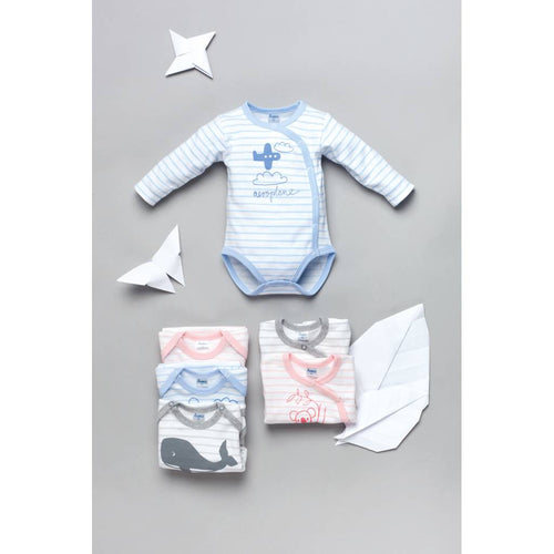 BAMBINISTA - PINOKIO - Onesies - Happy Kids Long Sleeve Wrap Bodysuit Aeroplane