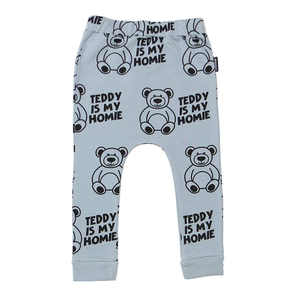 Bambinista - CRIBSTAR -Bottoms - 'Teddy is my Homie' Harem Leggings