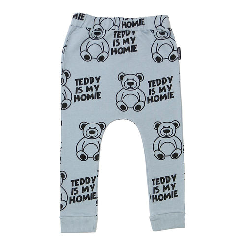 CRIBSTAR - 'Teddy is my Homie' Harem Leggings - Bottoms - Bambinista