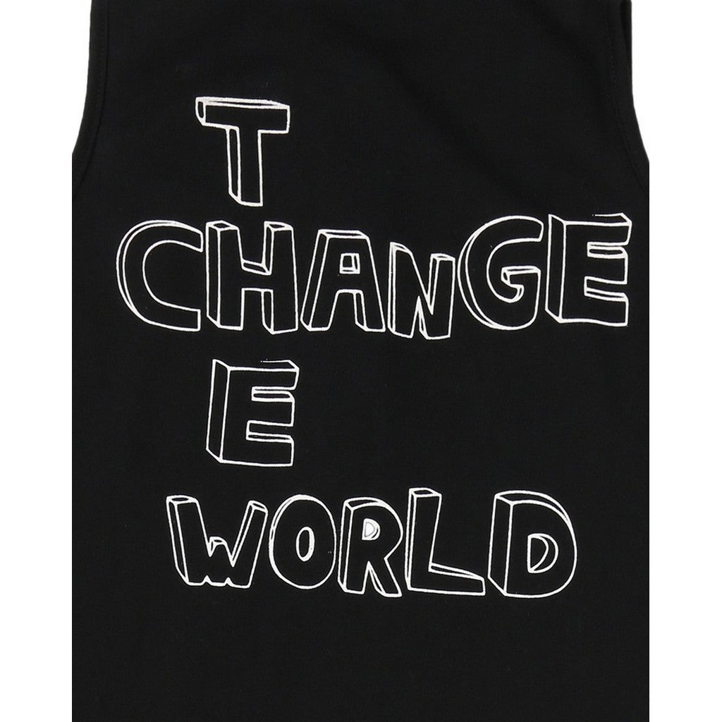 TURTLEDOVE LONDON - 'Change the World' Tank Dungarees - Rompers - Bambinista