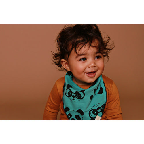 BAMBINISTA - TURTLEDOVE LONDON - Accessories - Reversible Panda / Stripe Bib