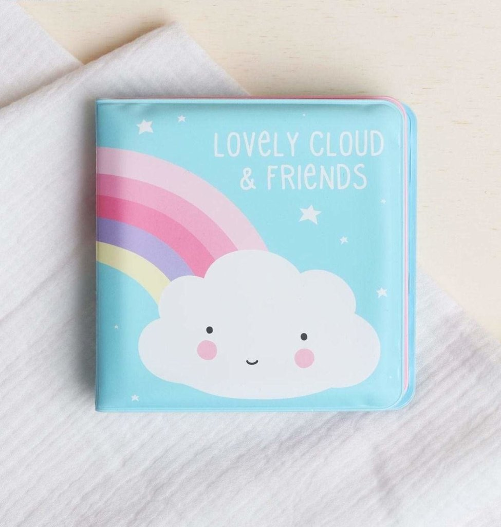 Bambinista-A LITTLE LOVELY COMPANY-Toys-Bath Book Lovely Cloud & Friends