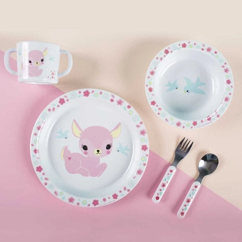 Bambinista-A LITTLE LOVELY COMPANY-Tablewear-Dinner Set Deer