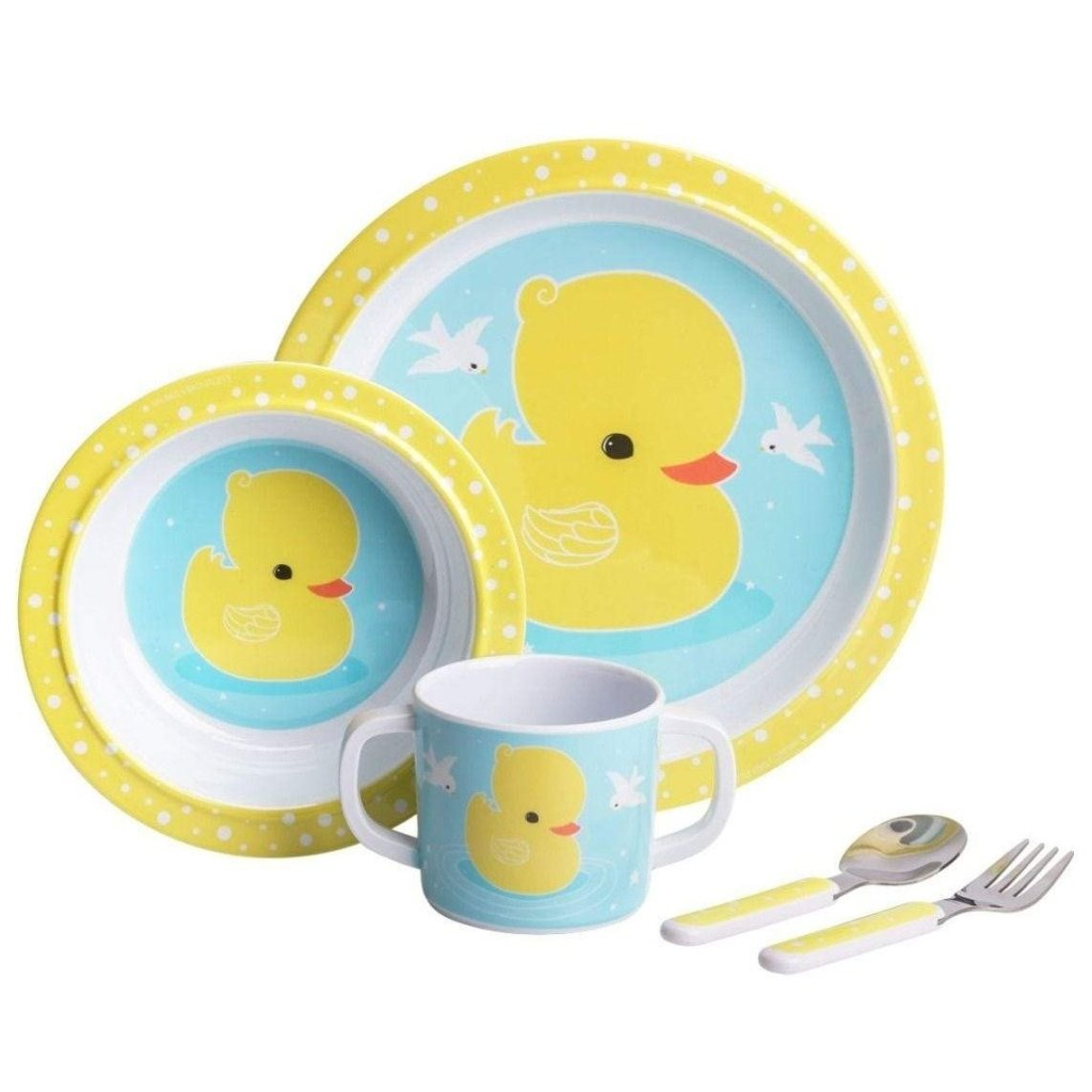Bambinista-A LITTLE LOVELY COMPANY-Tablewear-Dinner Set Duck