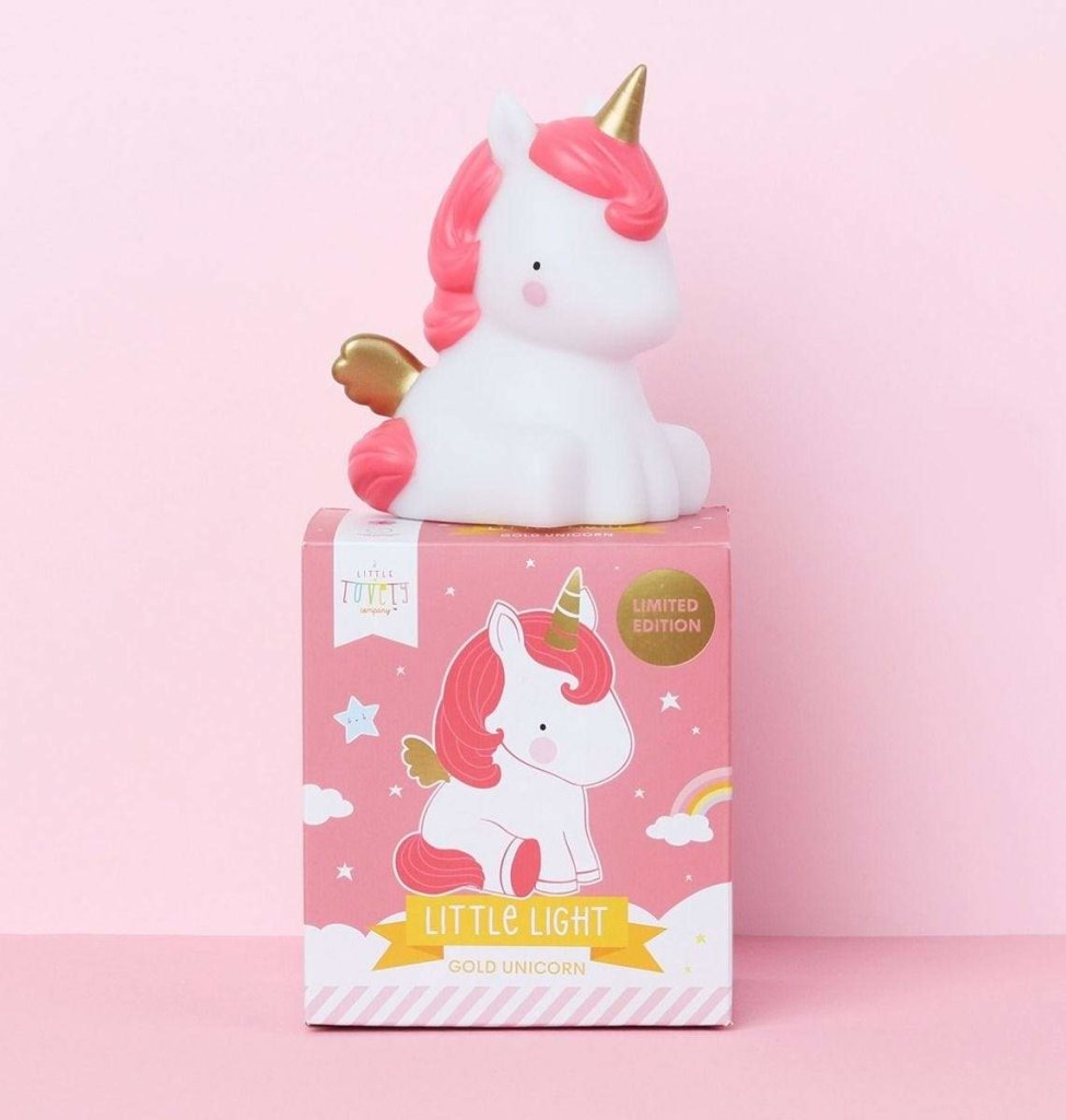 Bambinista-A LITTLE LOVELY COMPANY-Toys-Little Light Unicorn Gold