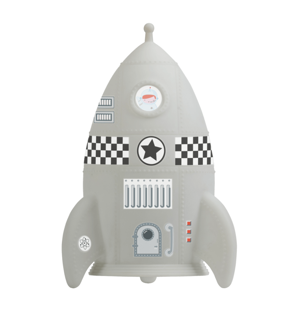 Bambinista-A LITTLE LOVELY COMPANY-Decor-Night Light Rocket