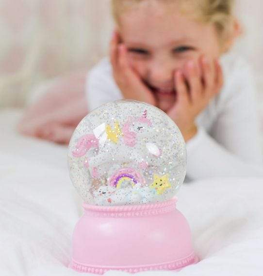 Bambinista-A LITTLE LOVELY COMPANY-Gifts-Snowglobe Light Unicorn