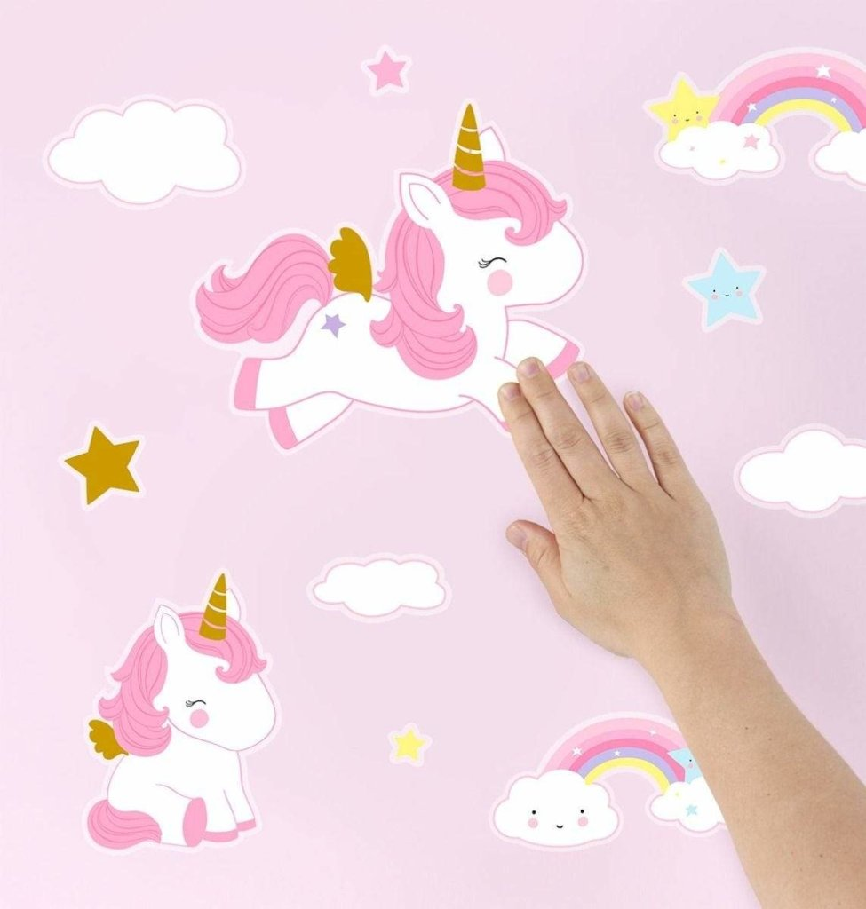 Bambinista-A LITTLE LOVELY COMPANY-Decor-Wall Stickers Unicorn