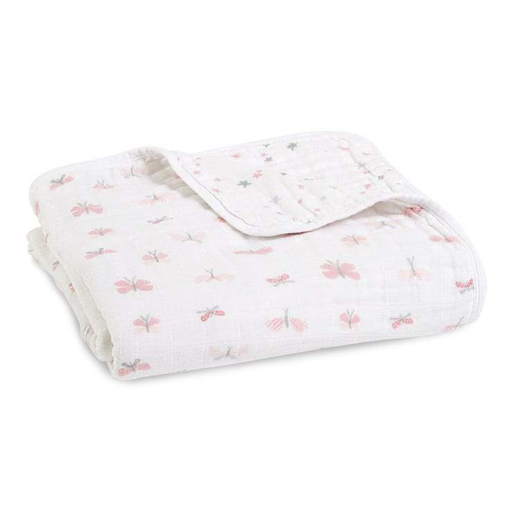Bambinista-ADEN + ANAIS-Blankets-Cotton Muslin Dream Blanket Lovely Butterfly