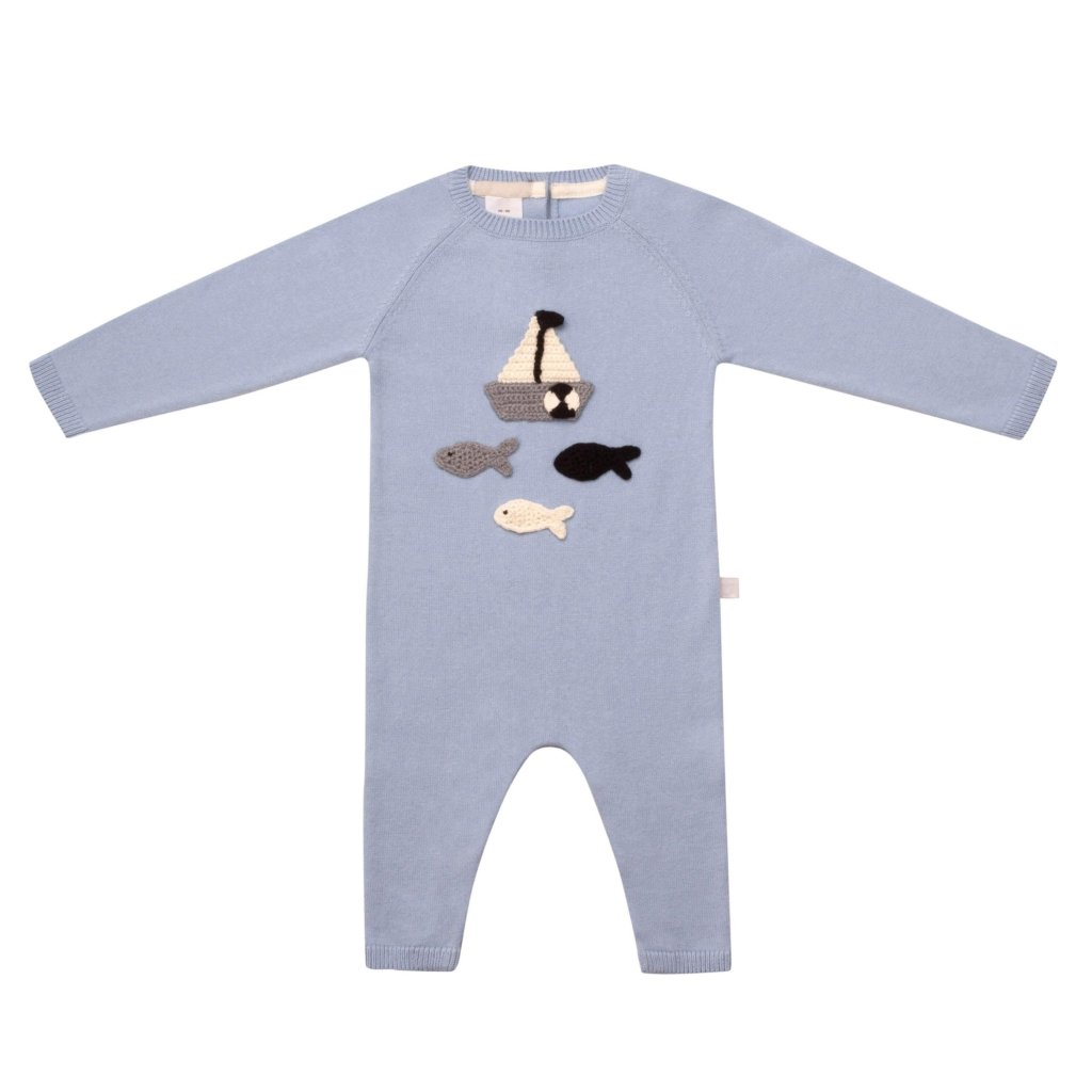 Bambinista-ARC DE NOA-Rompers-Row Row Row Your Boat Romper