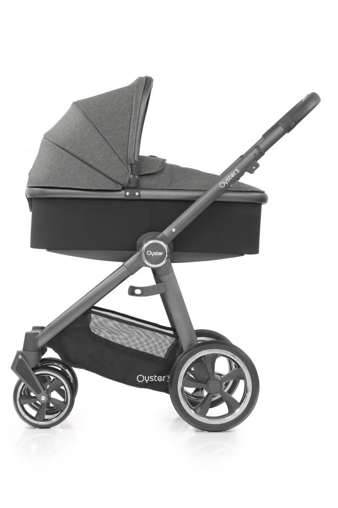 Bambinista-BABY STYLE-Travel-Oyster 3 Carrycot - Mercury / City Grey Chassis