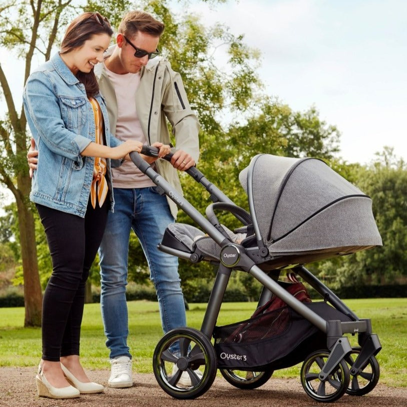 Bambinista-BABY STYLE-Travel-Oyster 3 Essential Package (5 Piece) - Pepper / City Grey Chassis